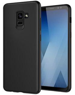 купить Чехол для моб.устройства Screen Geeks Galaxy A8 (2018), Solid, negru в Кишинёве