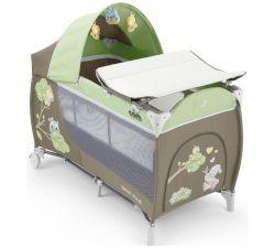 Кроватка-манеж CAM Daily Plus Green/Brown