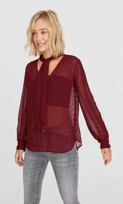 Bluza Stradivarius Bordo 6053/721/660