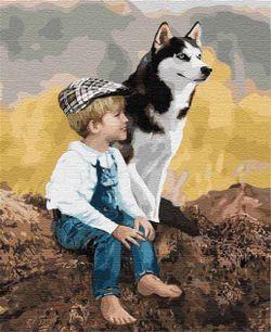 Pictura pe numere 40x50 Prieteni adevărați 04660