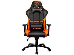 Gaming Chair Cougar ARMOR Black/Orange, User max load up to 120kg / height 150-185cm