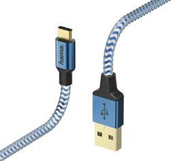 cumpără Cablu telefon mobil Hama 178295 Reflective Type-C -1.5 m Blue în Chișinău