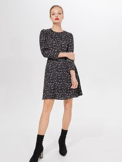 Платье MOHITO Черный с принтом