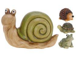 Черепаха, лягушка, улитка, еж декоративные H12cm, 20Х9.5cm