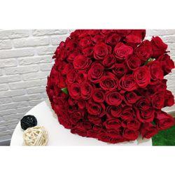 Букет из 101 красной розы 90-100 см