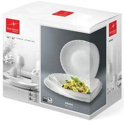 купить Набор посуды Bormioli Rocco 27148 Набор тарелок Bormioli Prima 18ед в Кишинёве