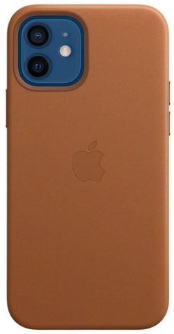 cumpără Husă pentru smartphone Apple iPhone 12 | 12 Pro Leather Case with MagSafe Saddle Brown (MHKF3) în Chișinău