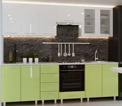 Bucătărie Bafimob Iulia (High Gloss) 2.6m White/Green