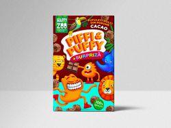 Кукурузные палочки с какао и сюрпризом Piffi&Puffi, 90г