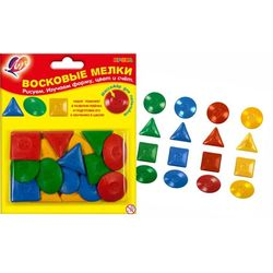 Creioane color cerate Figure Geometrice Луч 16 buc în blister