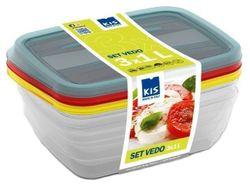 купить Контейнер для хранения пищи KIS 37190 Набор Vedo 3шт, 1l, 19.5X14X6cm, разн цвет в Кишинёве
