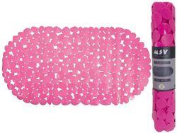 Коврик для ванны 39X99cm овал MSV Galets, фиолетовый, PVC