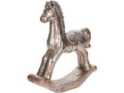 Статуэтка Лошадь 38X34X9cm, керамика, темно-золотой