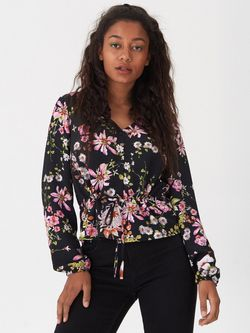 Bluza HOUSE Floral negru