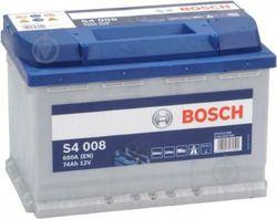 Bosch S4 12V 74Ah 680EN 278x175x190 -/+