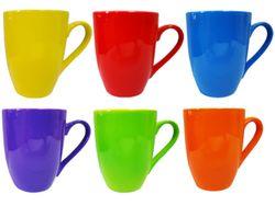 Чашка 350ml одноцветная, яркие цвета, керамика