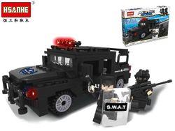 Конструктор HSANHE Полицейский джип 31X22X6cm, 254дет.