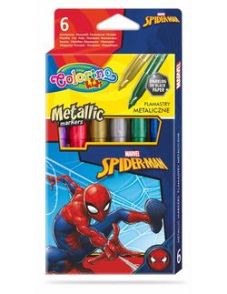 Set de markere metalice 6 culori- Colorino Disney SpiderMan