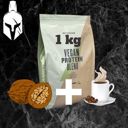 Комплексный протеин для веганов ( Vegan Protein Blend ) - Кофе и грецкий орех - 1 KG