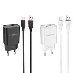 Încărcător Borofone BA20A Sharp + Cablu Type-C