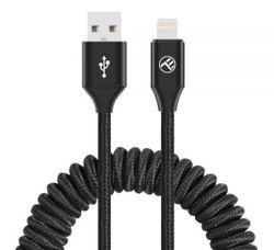 купить Кабель для моб. устройства Tellur TLL155396 Cable USB - Lightning, 3A, 1.8m, EXTENDABLE Black в Кишинёве