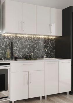Кухонный гарнитур Bafimob Mini (High Gloss) 1.2m White