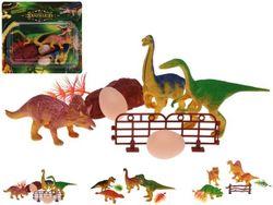 Набор динозавров 4шт, 3 вида