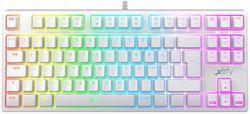 cumpără Tastatură Xtrfy XG-K4-RGB-TKL-WH-R-UKR K4 TKL RGB Kailh Red (Eng/Rus/Ukr), White în Chișinău