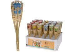 Факел бамбуковый со свечей
