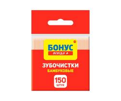 Бамбуковые зубочистки Bonus, 150 шт.