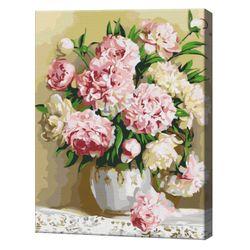 Букет пионов, 40х50 см, картина по номерам  BS8855