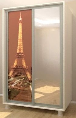 Шкаф-купе Bafimob D-140 Glass+Paris Shamoni