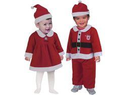 Costum Mos Craciu Alba ca Zapada pentru copii (12-18luni)