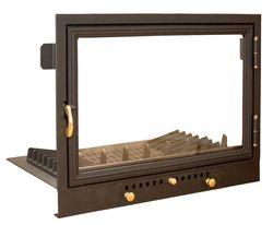 Дверца чугунная со стеклом Weekend с грилем