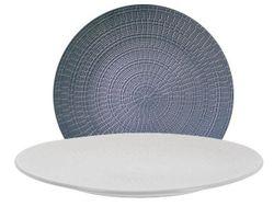 Тарелка 26.5cm сервировочная, рельефная, керамика