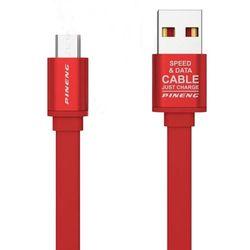 cumpără Cablu telefon mobil Pineng PN-303 Rapid Micro USB (rosu) în Chișinău