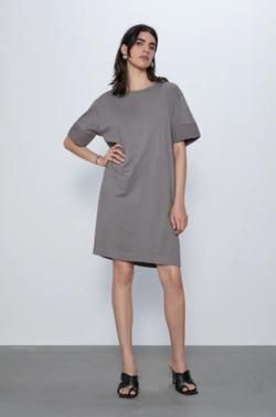 Платье ZARA Серый 0962/153/802