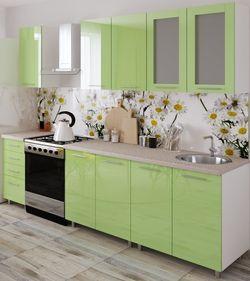 Bucătărie Bafimob Lena (High Gloss) 1.6m Green