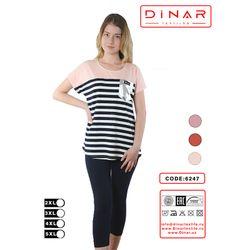 Set Dame tricou cu pantaloni 3 sferturi (2XL-5XL) /100/4