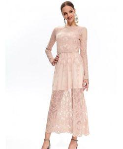 Платье TOP SECRET Бежевый ssu2770