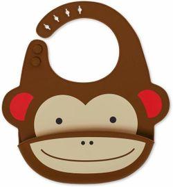 Силиконовый нагрудник Fold & Go Skip Hop Zoo Обезьяна