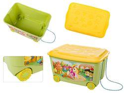 Контейнер для игрушек Пластишка 45l, 58X39X33cm, зеленый