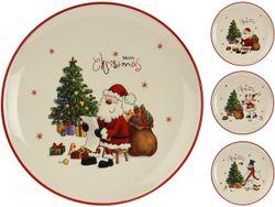Тарелка рождественская D20cm, H2cm Фигура и елка, керамика