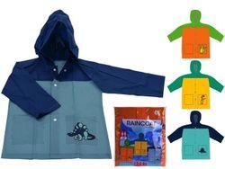 Дождевик для мальчикоа 3-7лет, с резинкой, 3 цвета