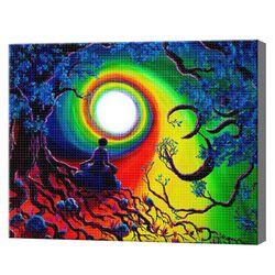 Радужный вихрь, 30x40 см, алмазная мозаика, GB75490