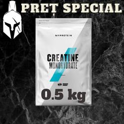 Creatină Monohidrată - Gust natural - 0.5 kg