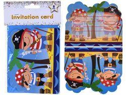 Set invitatii Pirates 8buc, 14X11cm