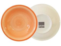 Farfurie adinca 21cm Tognana Gypsy Orange, din ceramica