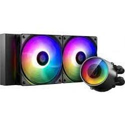 AIO Liquid Cooling Deepcool «CASTLE 240 RGB V2» (≤30 дБ (A), 69,34 куб. Фут / мин, 2x120 мм, светодиод RGB, 1426 г.)