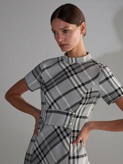 Платье RESERVED Черно-белый vc721-mlc